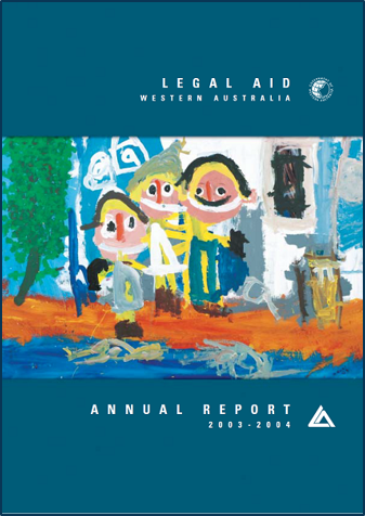 Cover of the 2003-04 annual report