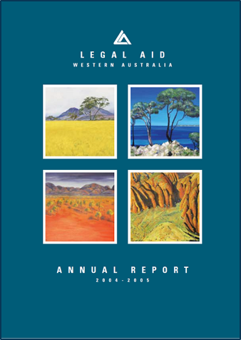 Cover of the 2004-05 annual report