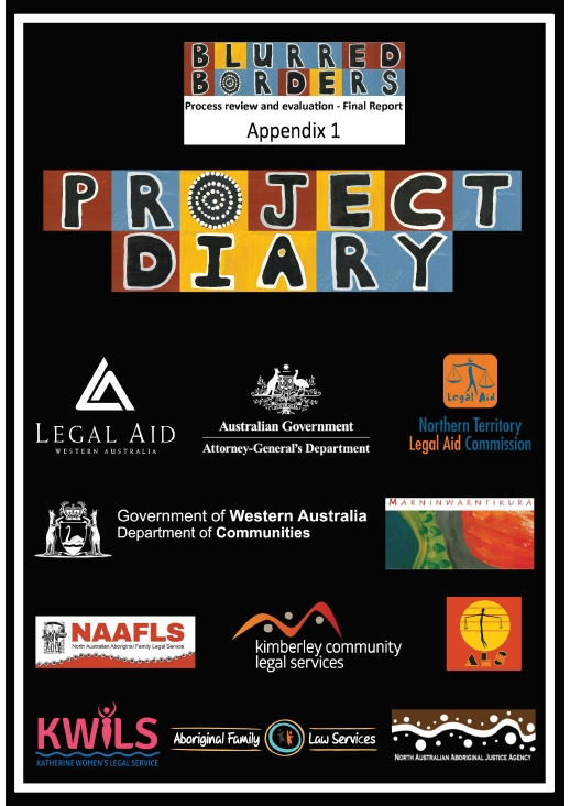 Cover of Blurred Borders Project Diary