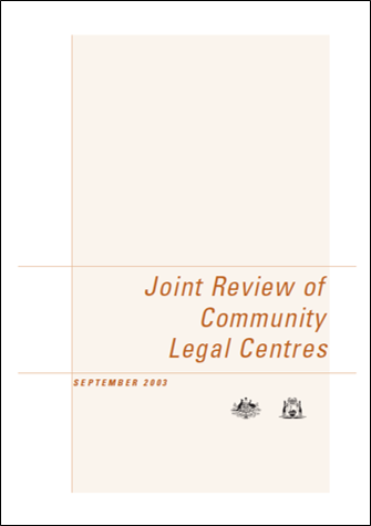Cover of the Joint Review 2003 report