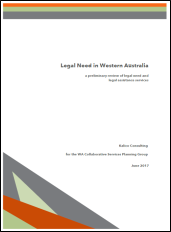 Cover of Legal Need in WA