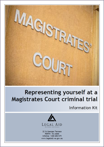 Magistrates Court criminal trial kit