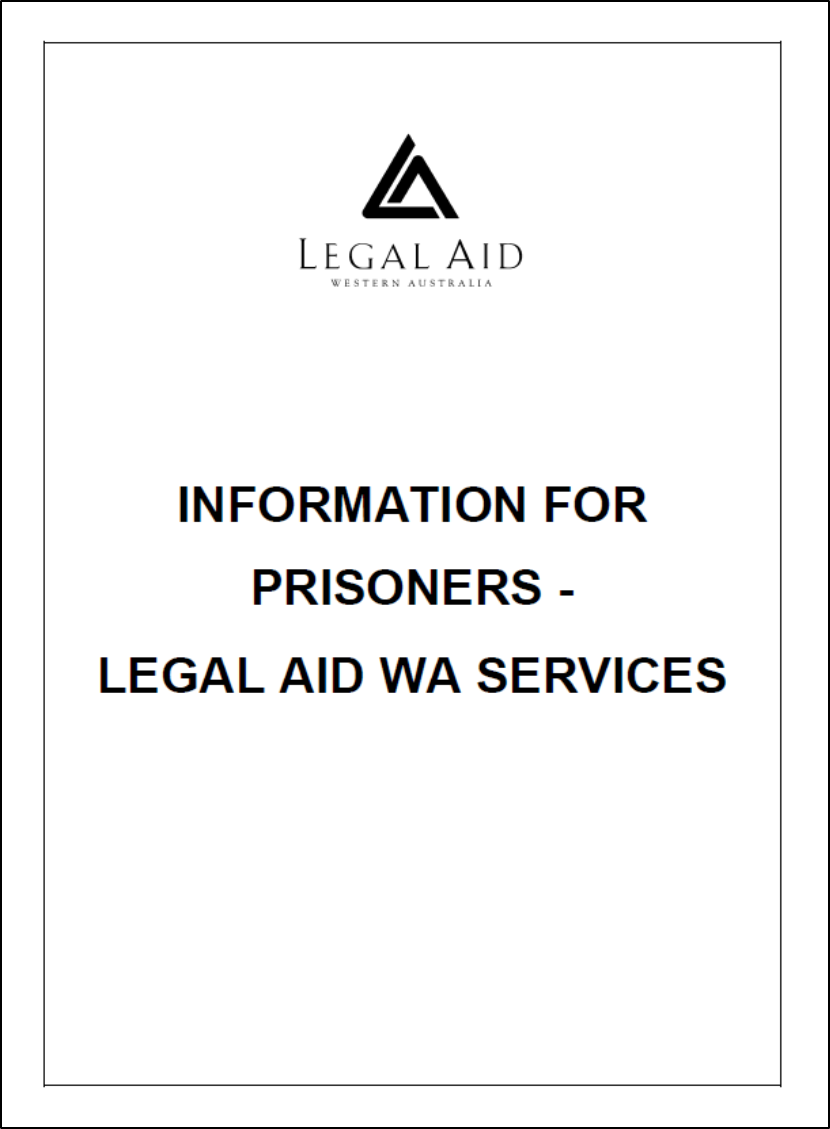 Information for Prisoners cover image