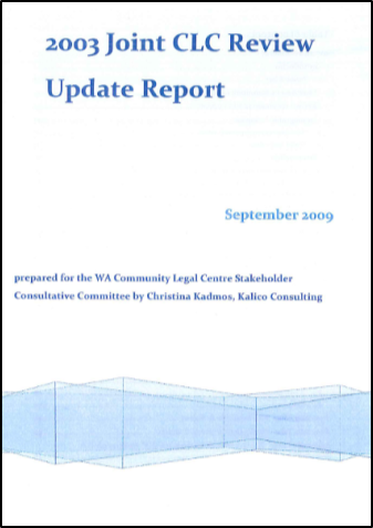 Cover of the 2009 Update Report