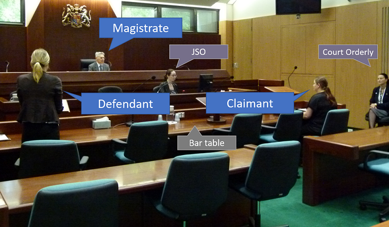 Roles of people in a courtroom