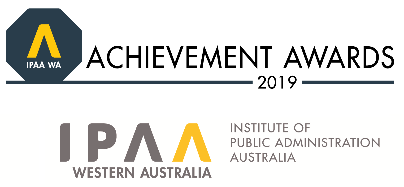 IPAA logo and achievement awards 2019 logo