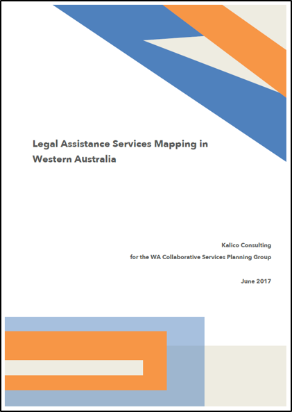 Legal Assistance Services Mapping in WA front cover image