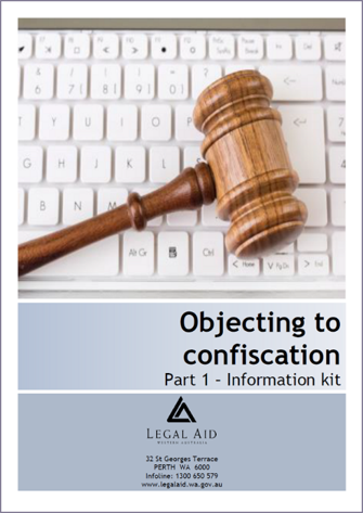 Objecting to Criminal Property Confiscation - Information