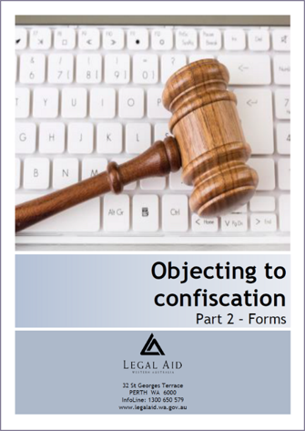 Objecting to Criminal Property Confiscation - Forms