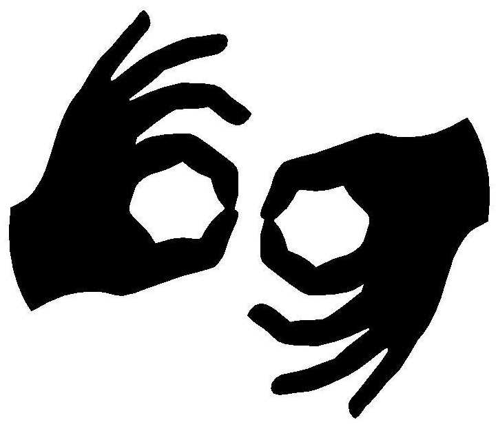 two hands doing sign language